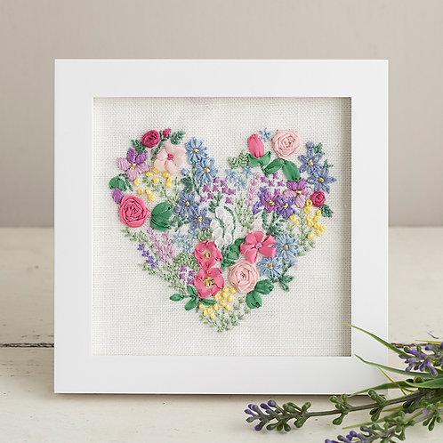 Stitch Mini Frame <Flower Heart>