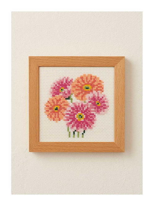 Cross Stitch Frame <Gerbera>