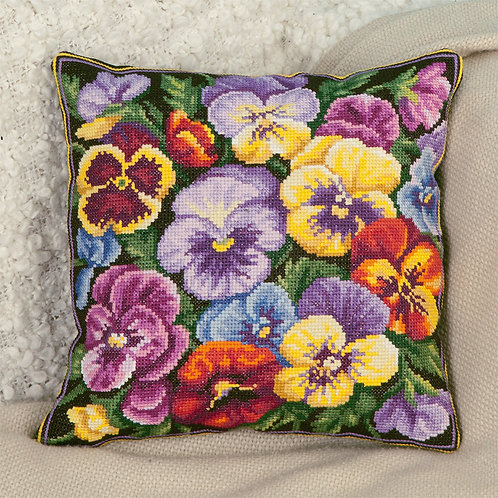 Viola Embroidery Cushion Cover