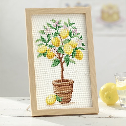 Cross Stitch Frame <Lemon Tree>