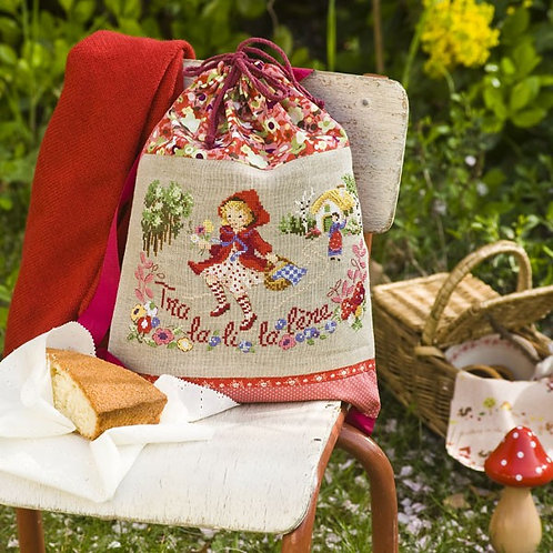 Linen «Little Red Riding Hood» Backpack