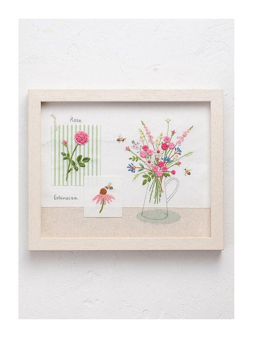 青木和子 6 Colors Embroidery Kit - Pink