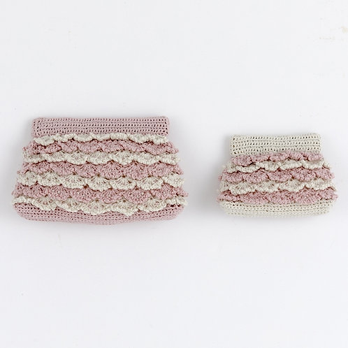 Ruffle Spring Clasp Pouch (Material Set)