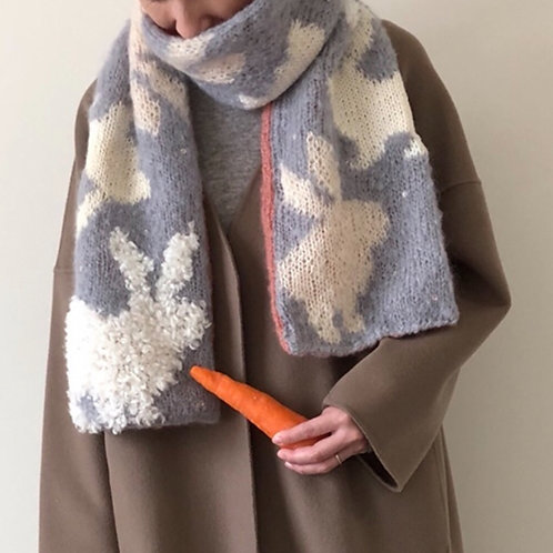 Rabbit Muffler Knitting Material Kit