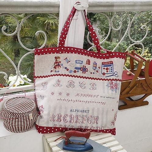 Linen « Lily » Maxi work bag