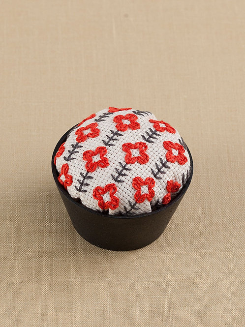 Red Flower Pin Cushion