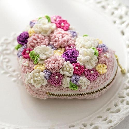 Heart Flower Pouch (Material Set)