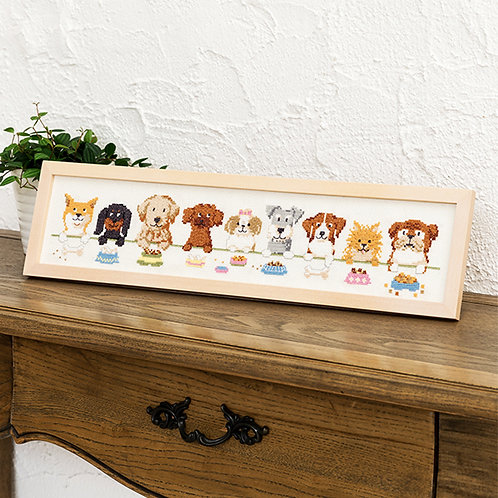 Cross Stitch Frame <Dog Friends>