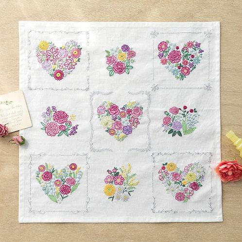 Stitch Cloth <Heart & Flower>