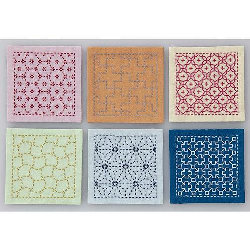 Sashiko Coasters <Colourful>