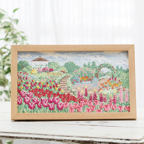 Cross Stitch Frame <Flower Garden>