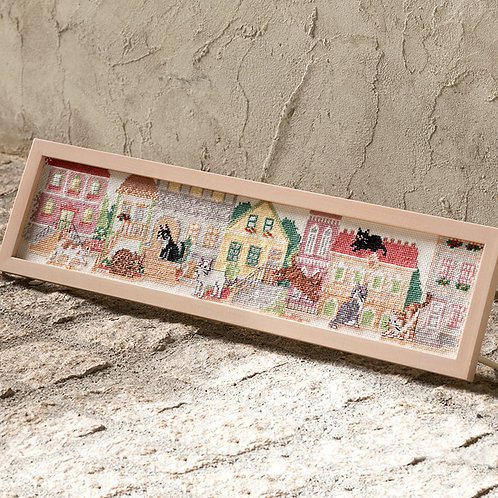 Cross Stitch Frame <Cat Living City>