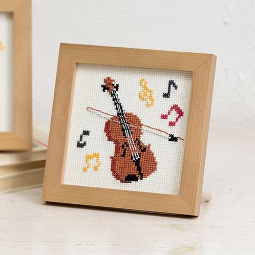 Cross Stitch Mini Frame <Violin>