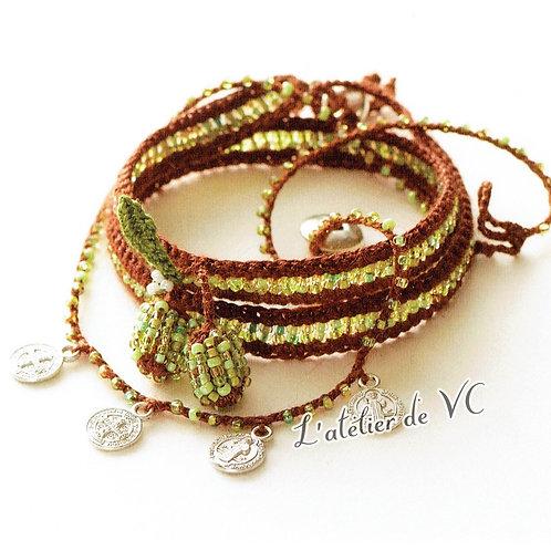 Olive Motif Bracelet material kit