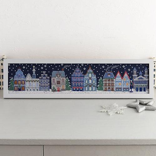 Cross Stitch Frame <Snowy Night>