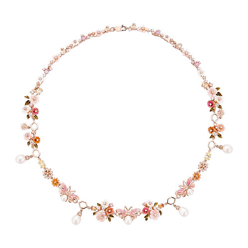 Flower and Bees Necklace