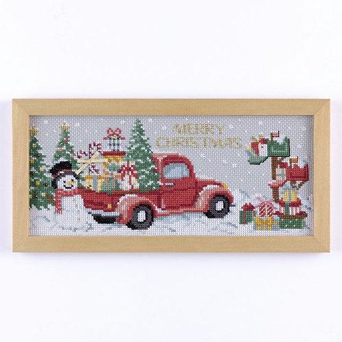 平野明子 Cross Stitch Frame <Christmas Car>