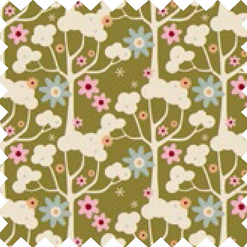 Tilda Wildgarden Green Fabric (by 0.5m)