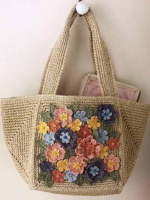 Crochet Floral Bag Material Kit