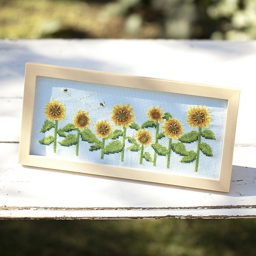 Cross Stitch Frame <Sunflower>