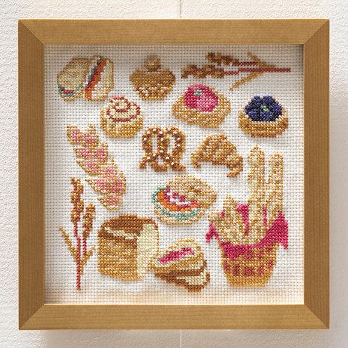 Cross Stitch Frame <Bread>