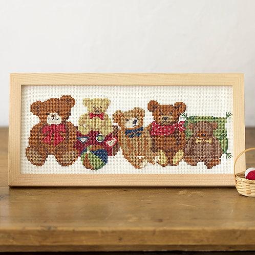 Cross Stitch Frame <Bear Friends>