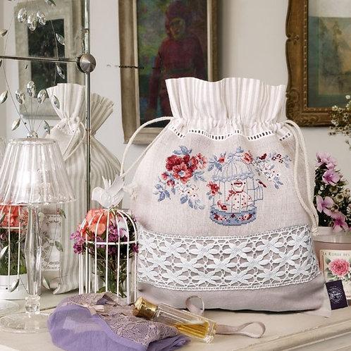 Linen «Albertine» Drawstring pouch