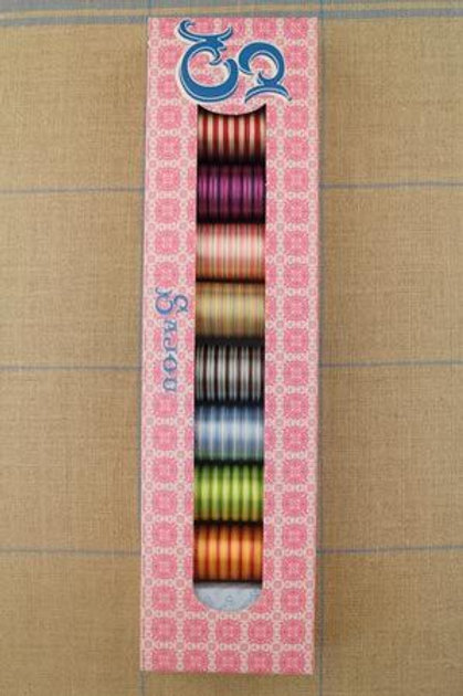 SAJOU SELECTION BOX - EIGHT SPOOLS VARIEGATED THREAD - 150M