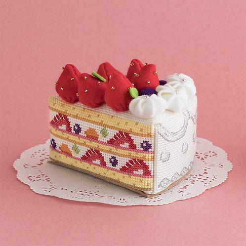 Cross Stitch Strawberry Cake