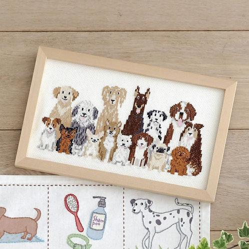 Cross Stitch Frame <Dog Life>