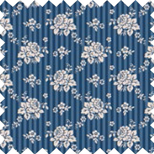 Tilda Emily Dark Blue Fabric (by 0.5m)