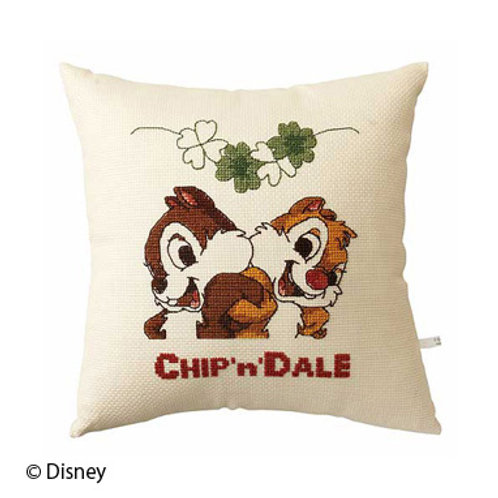 Chip 'n' Dale Cross Stitch Cushion Cover
