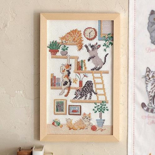 Cross Stitch Frame <Cat Diary>
