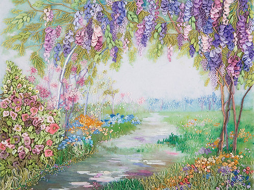 Blossoming Wisteria Embroidery