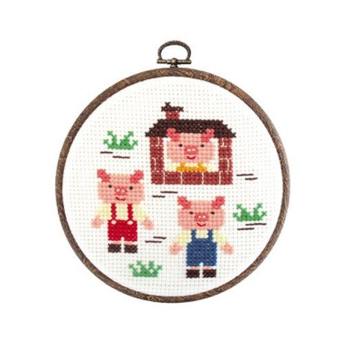 Three Little Pigs Cross Stitch