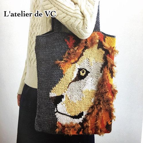 Knitting Lion Bag