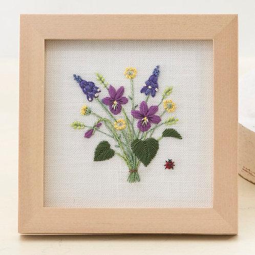 Mini Frame <Viola Bouquet>