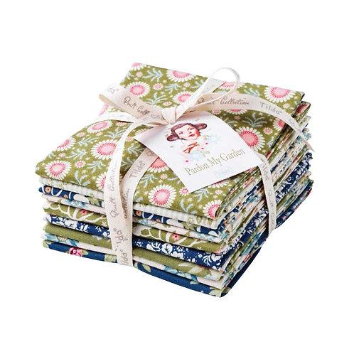 Tilda Fat Quarter Bundle Fabric, 9 pcs