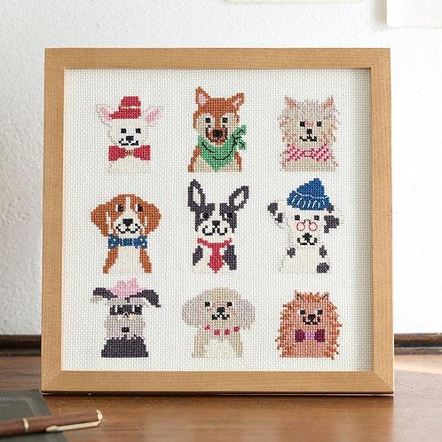 Cross Stitch Frame <Dog's Fashion>