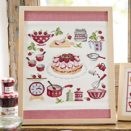 Cross Stitch Frame <Strawberry Cake>