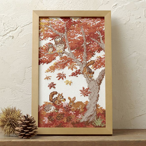 Cross Stitch Frame <Autumn Arrival>