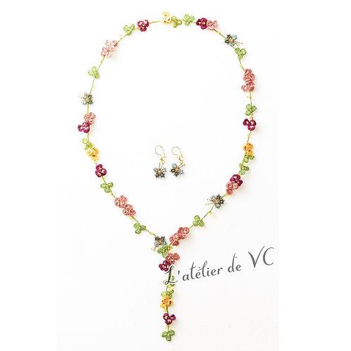 Spring Motif Necklace & Ear Rings material kit