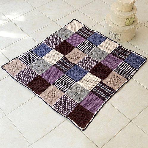 Patchwork Square Blanket (Hand Made)