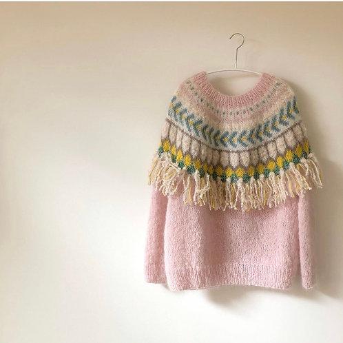 Pink Knitting Sweater Material Kit