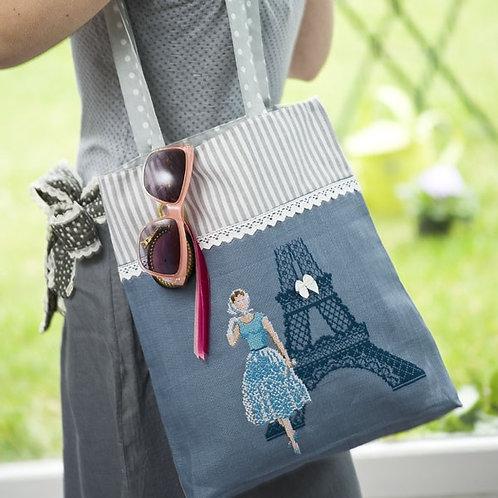 Linen « La Parisienne » Handbag