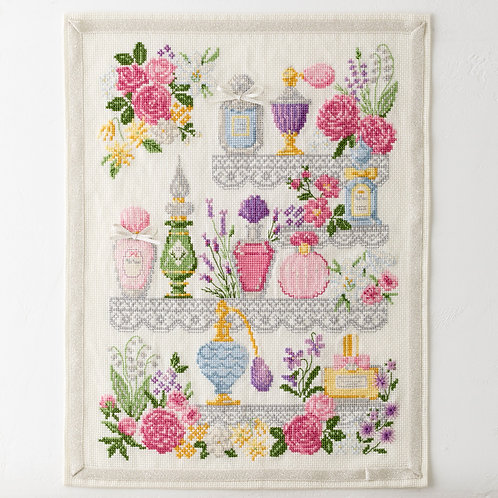 Cross Stitch Tapestry <Floral Bouquet>