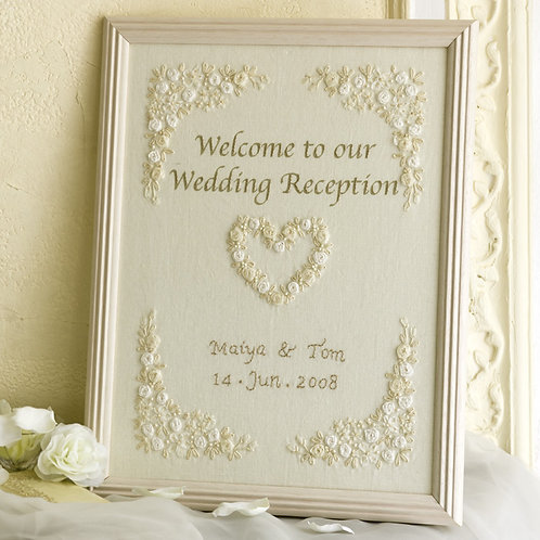 Linen's Welcome Frame