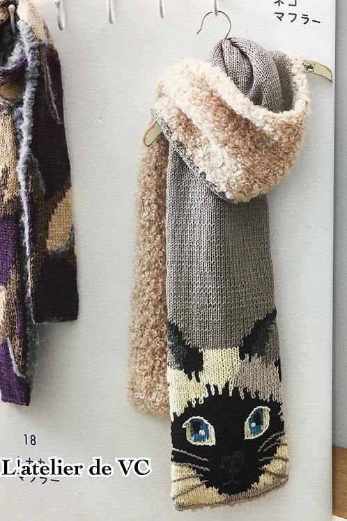 Knitting Cat Scarf