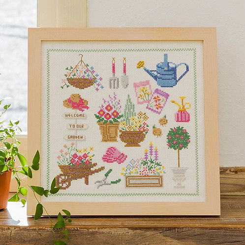 Cross Stitch Frame <Gardening>