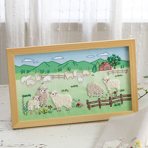 平野明子 Stitch Frame <Sheep>